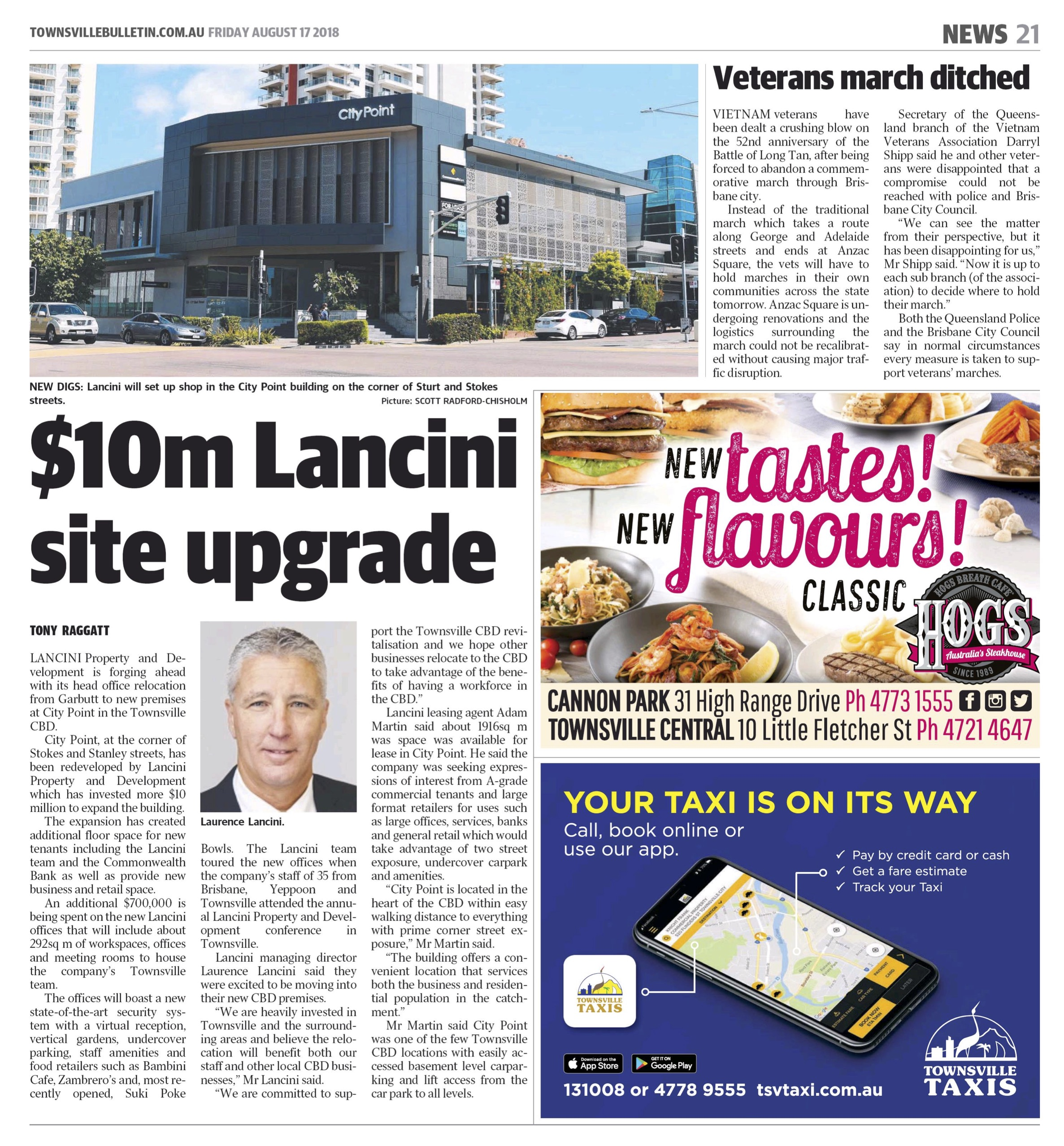 Lancini Property & Development prepare for transition to CBD