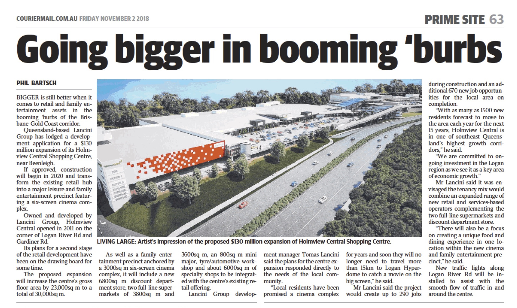 Going bigger in booming 'burbs